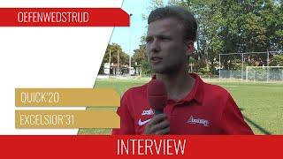 """Screenshot van video Jasper Veltkamp: """"We hebben veel wedstrijden in de voorbereiding, dat is alleen maar goed"""""""