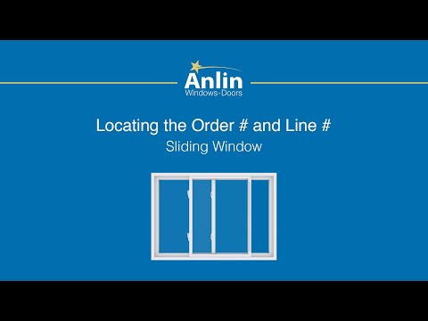Locating the Order Number on Your Anlin Sliding Window