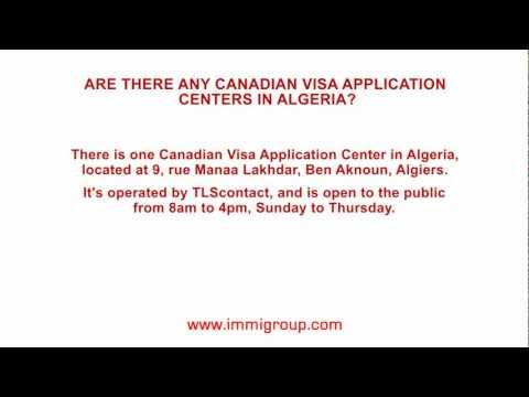 Are there any Canadian Visa Application Centers in Algeria?