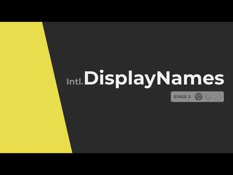 video thumbnail for Intl.DisplayNames -  Javascript