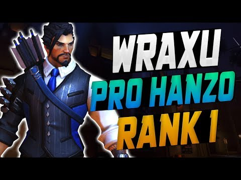 WRAXU DOMINATING AS NEW HANZO! 53 ELIMS! [ OVERWATCH SEASON 10 TOP 500 ]