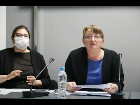 Брифинг на министъра на труда и социалната политика Деница Сачева