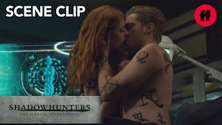 Shadowhunters   Season 2, Episode 19: Jace Pulls Clary in for a Kiss   Freeform