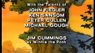 Closing to The New Adventures of Winnie the Pooh: The Sky's the Limit VHS (Print Date: Jan. 6, 1992)