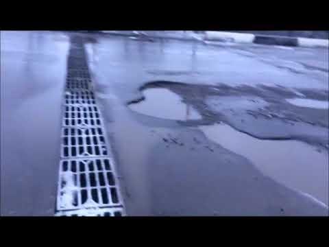 Воркутинские дороги.  Ямочный ремонт