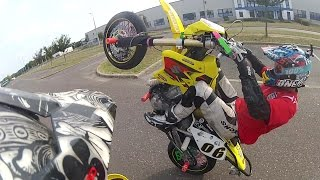 The young Hungarian trio's weekend |Supermoto| DRZ |