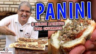 Como Fazer Panini Aperitivo - Sandwiches Appetizer - Bocadillos Aperitivos - Tv Churrasco