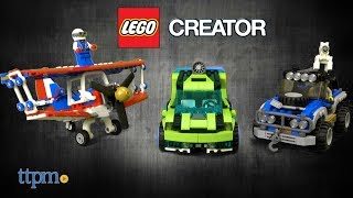LEGO Creator Daredevil Stunt Plane, Outback Adventures, and Rocket Rally Car from LEGO