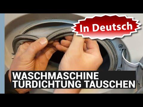 WASCHMASCHINE MANSCHETTE WECHSELN IN DEUTSCH - BOSCH TÜRDICHTUNG TAUSCHEN - eBikeundSo