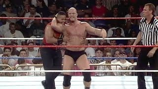 """Stone Cold"" Steve Austin debuts the Stunner: WWE Superstars, June 17, 1996"