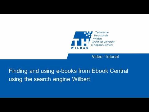 Video tutorial: Using e-books via the Ebook Central platform.