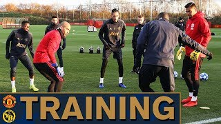 Manchester United prepare for Young Boys UEFA Champions League Clash | Training