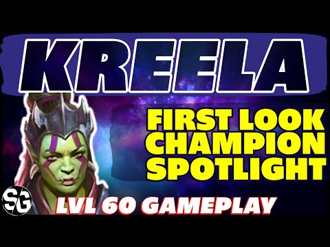 KREELA WITCH-ARM LVL 60 GAMEPLAY FIRST LOOK RAID SHADOW LEGENDS KREELA LEVEL 60 GAMEPLAY