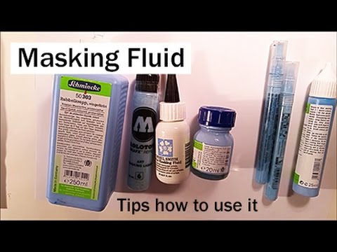 Tips how to use Masking Fluid (liquid frisket) on watercolor Paper by Iraville