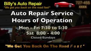 Billy's Auto Repair Sample 30s Ad - Pro Star Video Sampler