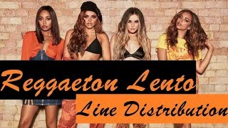Little Mix ~ Reggaeton Lento (Remix) ~ Line Distribution