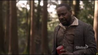 lucy rufus and wyatt  burying a message in a bottle for mason in the future timeless 1x07 clip