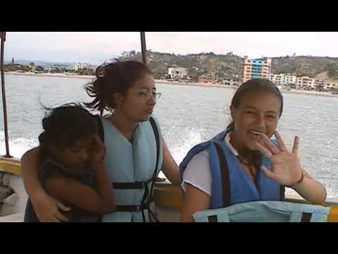 Boat ride to the Islands Ecuador