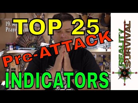 Urban Survival Tips:  25 Pre-Attack Indicators for Self Defense
