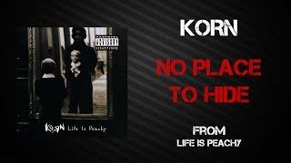 Korn - No Place To Hide [Lyrics Video]
