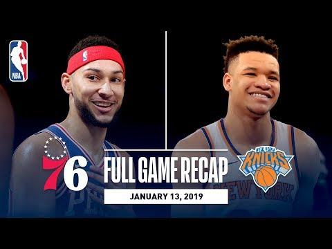 Full Game Recap: 76ers vs Knicks | Ben Simmons Records First 20-20 Game
