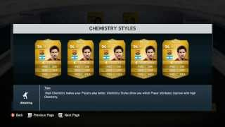 FIFA 14 UT CHEMISTRY STYLES EXPLAINED! - NEW FEATURES of Ultimate Team