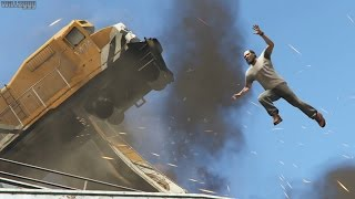 GTA 5 (PS4) - Mission #50 - Derailed [Gold Medal]