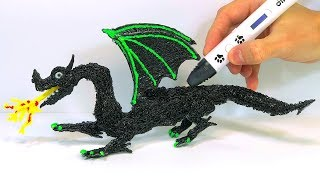How to make a DRAGON in 3D   Drawing in the Air with a Dikale 3D Pen