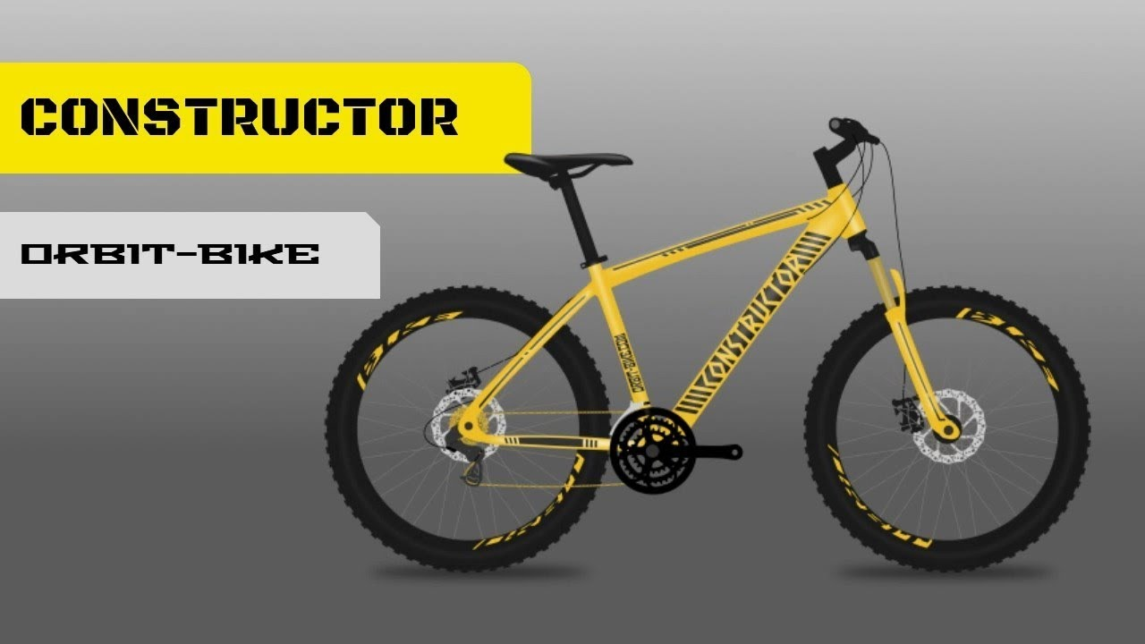 Yellow Constructor Bicycle Design