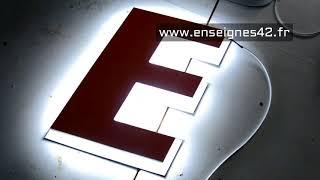 retro eclairage +   lettres à éclairage led pour enseigne lumineuse