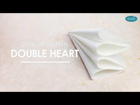 EASY NAPKIN FOLDING – DOUBLE HEART
