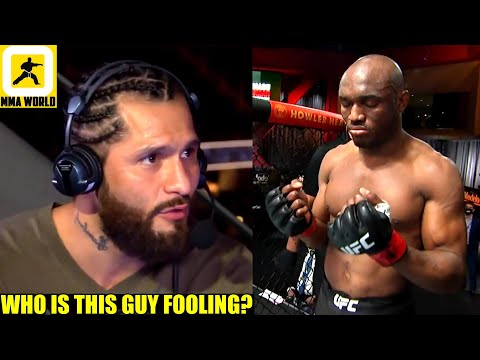 Jorge Masvidal reacts to Kamaru Usman's warning that he'll put him in a coffin in their rematch,DC