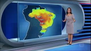 Semana de tempo seco e temperaturas elevadas na maior parte do Brasil