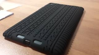 Black Silicone Skin Case Cover Tyre Tread for Asus Google Nexus 7 2013 2nd Gen Tablet