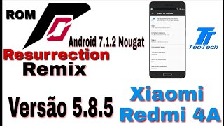 Ressuction Remix 5.8.5 Android 7.1.2 Redmi 4A [Unoficial] 2018