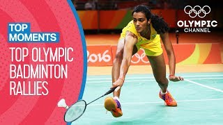 Top 10 Badminton Rallies at the Olympic Games! | Top Moments