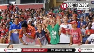 Giovani dos Santos ovacionado en Chicago y saca empate al Fire 2-2 LA Galaxy