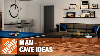 A video highlighting man cave ideas.