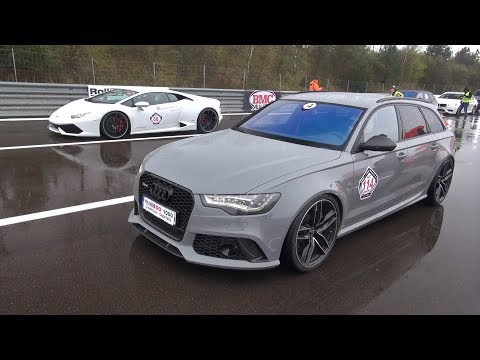 Audi RS6 Avant C7 vs Lamborghini Huracan LP610-4! LOUD SOUNDS!