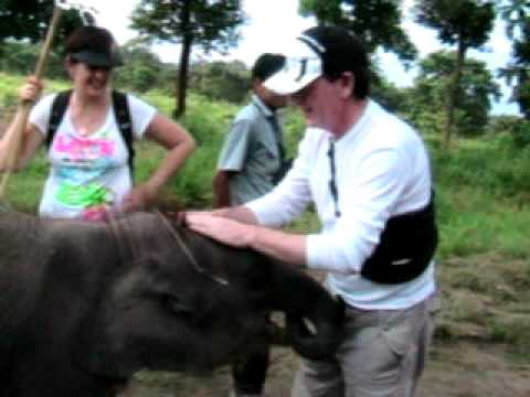 Nepal 2008 – Ray and the baby elephant again!