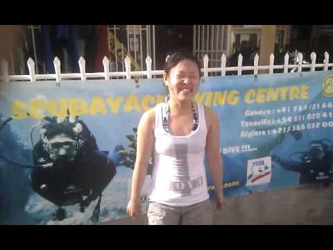 SCUBAYACI  Tenerife, Japonaise say hello to the algerian