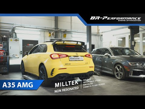 Mercedes A35 AMG / MILLTEK Non Resonated Cat Back Exhaust By BR-Performance /