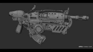Weapon Modeling Time-lapse