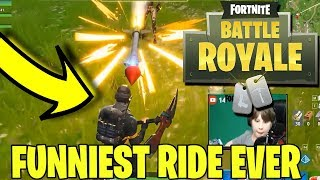 FORTNITE- RIDING THE ROCKET - FUNNY