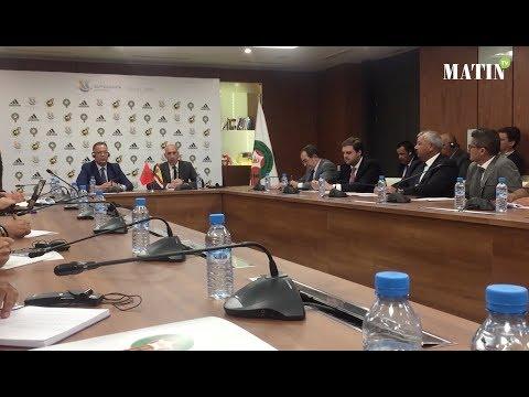 Video : Barça - Séville : Les présidents Lekjaâ et Rubiales présentent la Supercoupe d'Espagne
