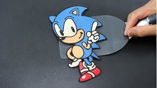 Pancake Art - Sonic the Hedgehog by Tiger Tomato