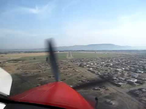 South african villages from a red cross plane
