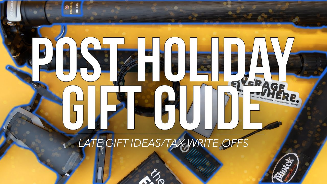 Post Holiday Gift Guide: Late Gift Ideas, or Tax Write-Offs