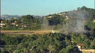 exato momento do acidente com avião do alok