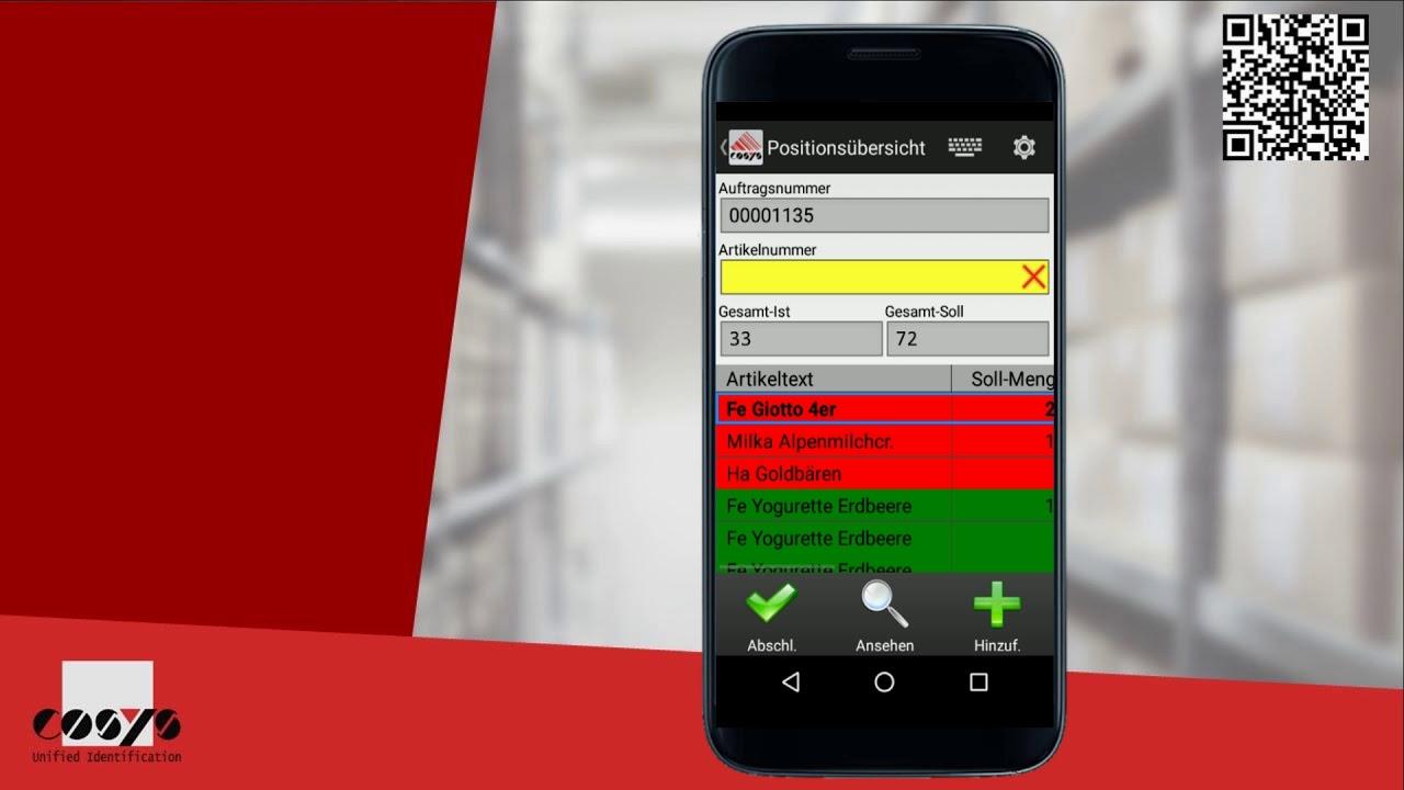 Einlagerung geordnet und kalkuliert | COSYS Warehouse Management Module